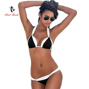 Bikini Triangular Doble Tono (disponible en tallas extra grandes)