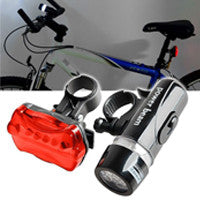 Bicycle Front Head Light and Rear Safety Lamp