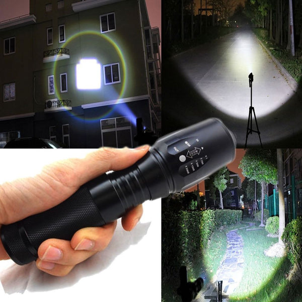 2000 Lumen Zoomable  LED Flashlight Focus