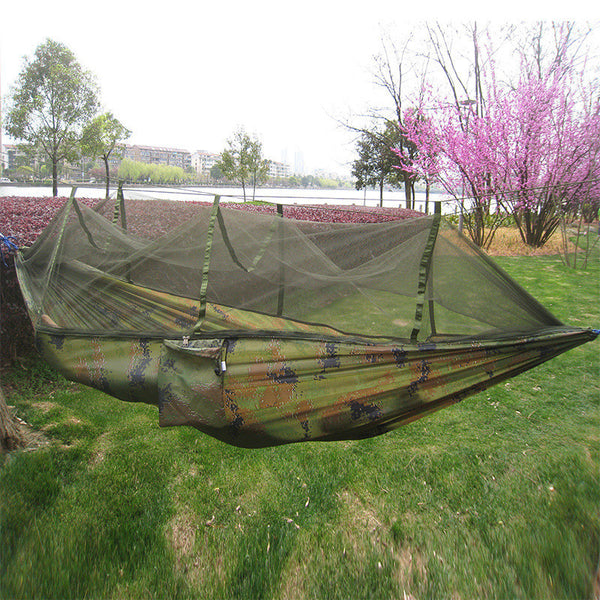 Outdoor Camping Parachute Hammock with Mosquito Net Flyknit