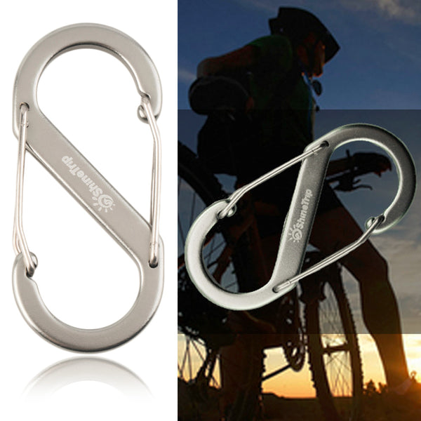 1 pcs 8-type Metal Keychain Buckle Survival Gear Carabiner Hook Travel Kit free shipping