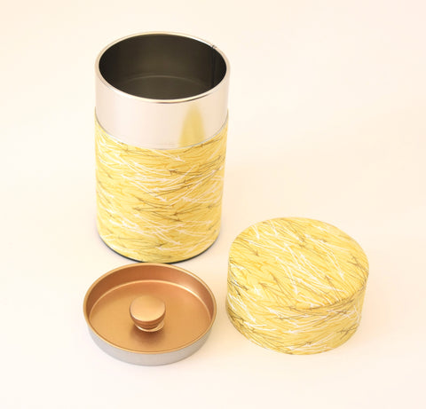 Washi tea tin - yellow birch bark