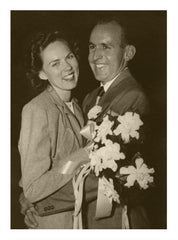 Marjorie and Jack Lardy on Their Wedding Day October 25th 1951
