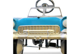 Aqua and White 55 Classic Pedal Car Front