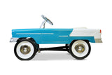 Aqua and White 55 Classic Pedal Car Side View