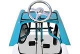 Aqua and White Classic 55 Pedal Car Top View