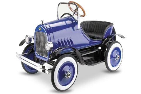 Blue and Black Model A Roadster Pedal Car