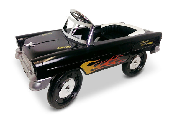 Flaming Black 55 Classic Pedal Car