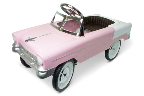 Pink and White 55 Classic Pedal Car