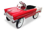 Red and White 55 Classic Pedal Car
