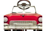 Red and White 55 Classic Pedal Car Front