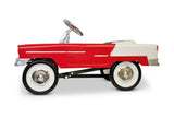 Red and White 55 Classic Pedal Car Side View
