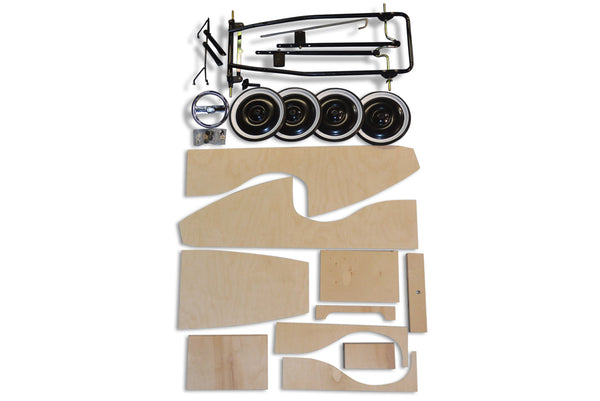 Wood Pedal Car Kit Parts