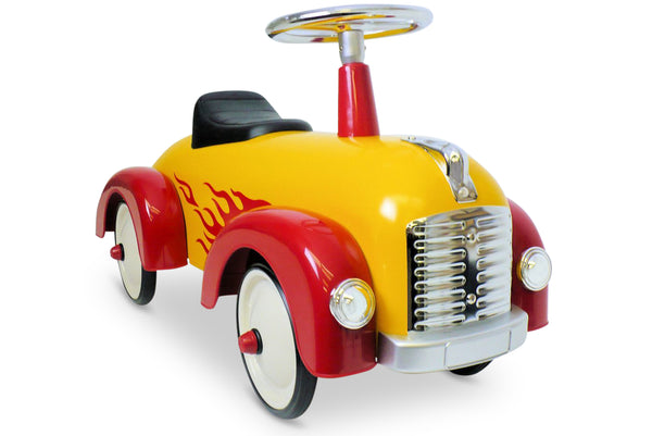 Flaming Yellow Speedster Scoot-A-Long Ride-On Toy
