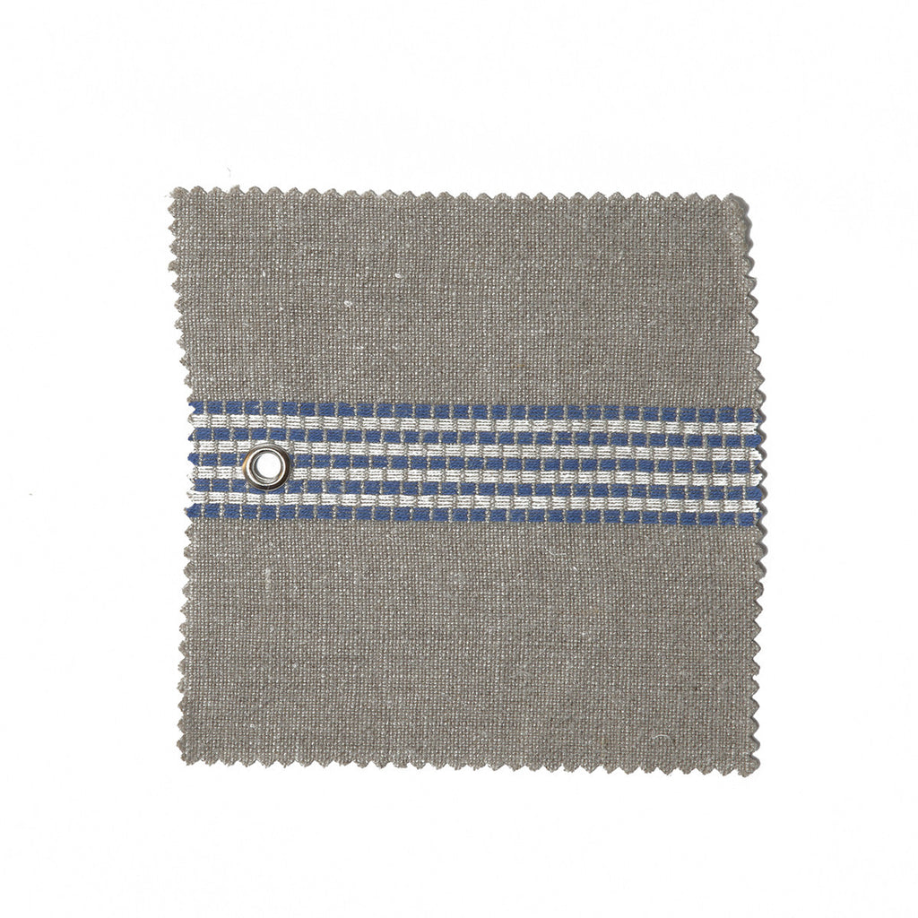libourne (natural with blue & white stripes)