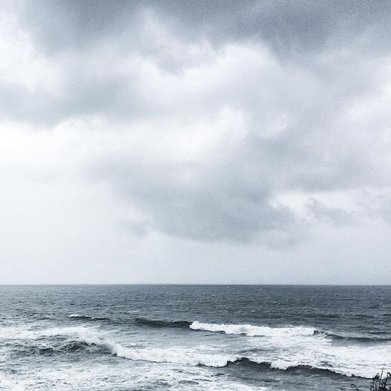ocean waves foggy vsco instagram pale