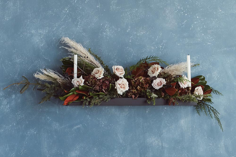 Floral Mantelpiece Decor for Holiday Season