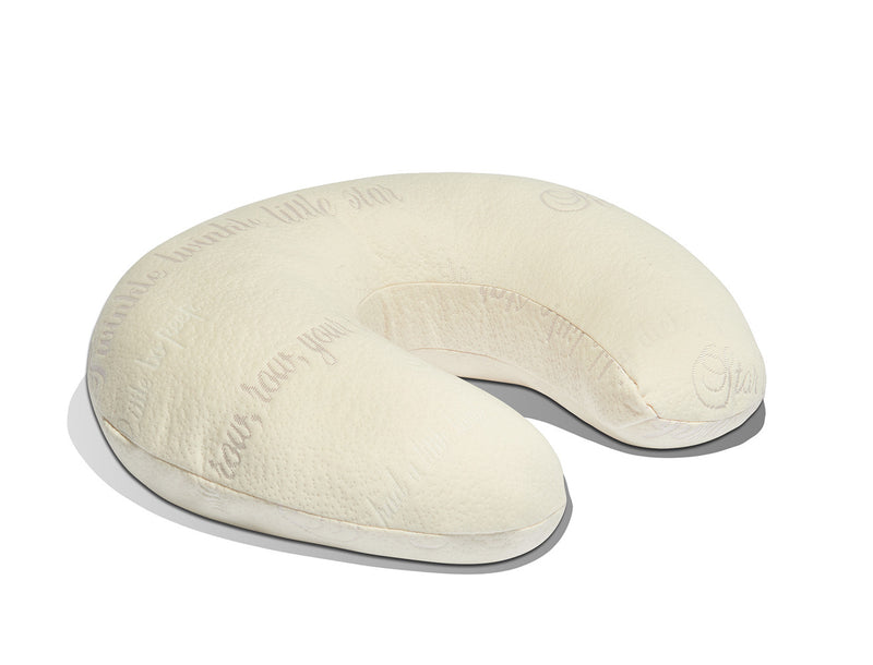 white non-toxic dual nursing pillow and infant sit-up pillow
