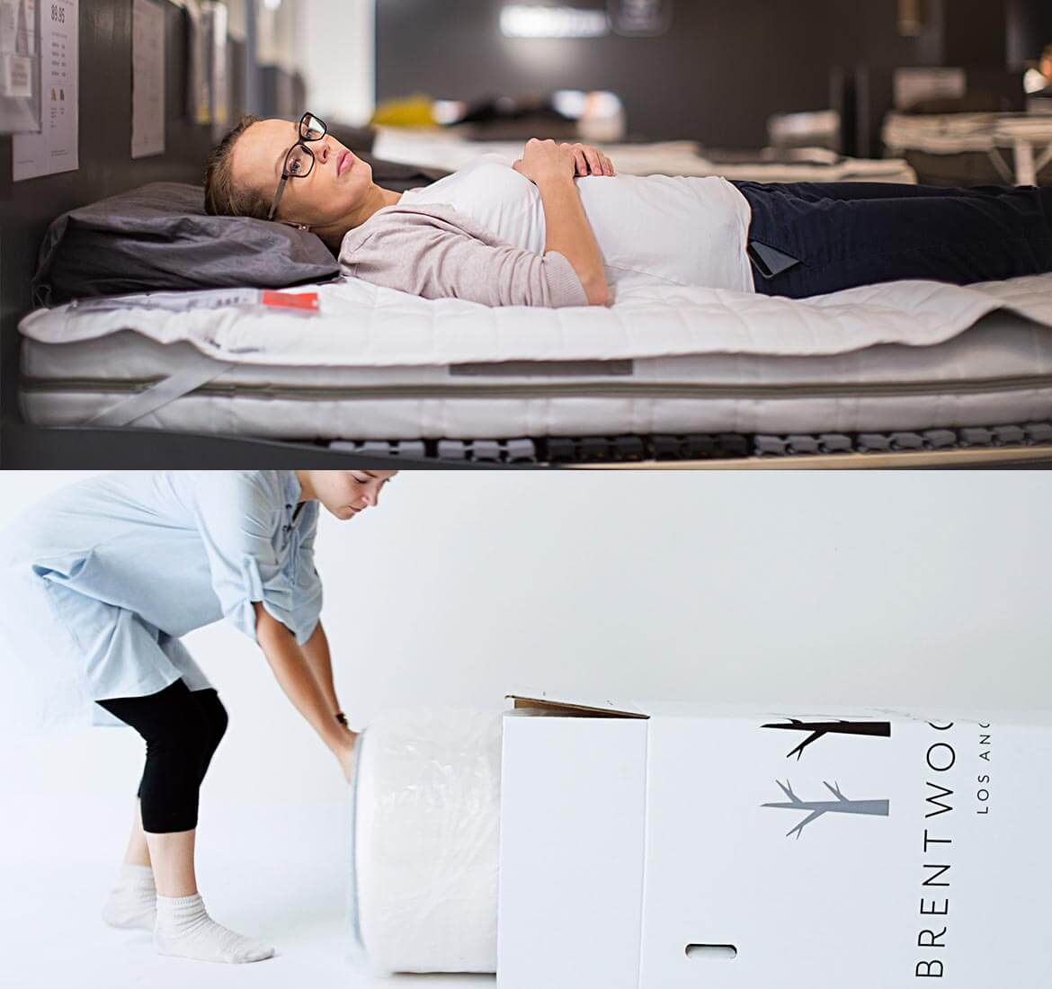 The Palmetto mattress by Brentwood Home is from their Natural Latex line, and comes compressed and shipped straight to your door with free shipping and returns.