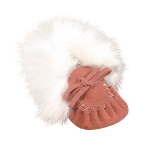 Baby Moccasins with Rabbit Fur
