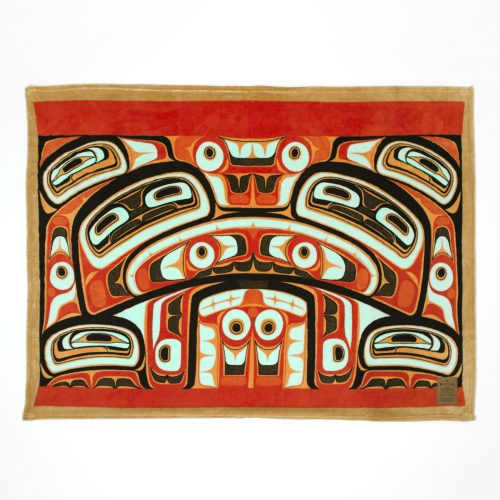 "Haida Bentwood Box Velura Throw 50""x60"""