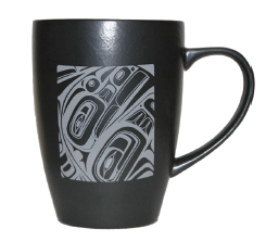 Matte Black Ceramic Mugs