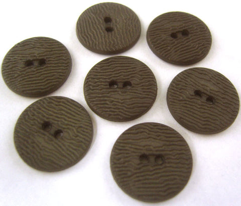 B0084 15mm Smoked Grey 2 Hole Matt Button - Ribbonmoon