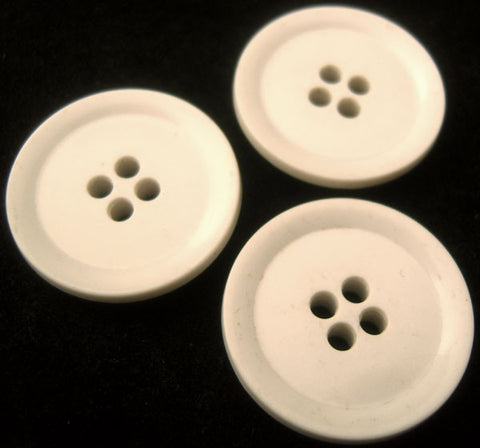 B0105 26mm Ceramic White 4 Hole Button - Ribbonmoon