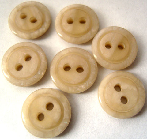 B0129C 13mm Pale Beige Marble Effect 2 Hole Buttons - Ribbonmoon