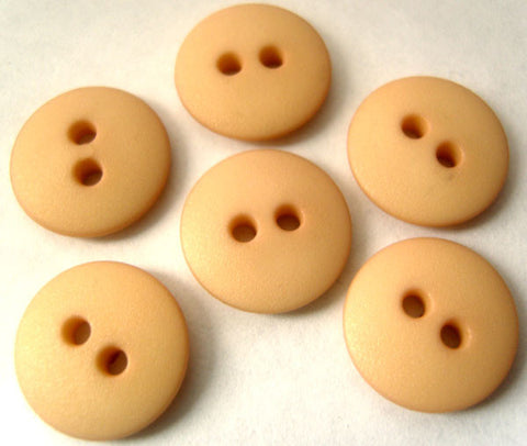 B0239 15mm Pale Dusky Peach Matt 2 Hole Button - Ribbonmoon