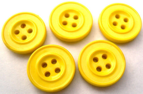 B0245 16mm Bright Yellow 4 Hole Button - Ribbonmoon