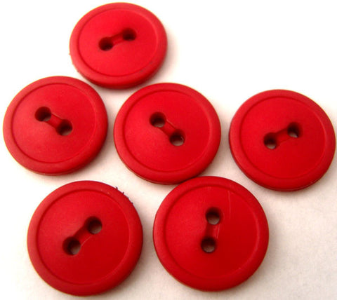 B0279 15mm Pale Red Matt 2 Hole Button - Ribbonmoon