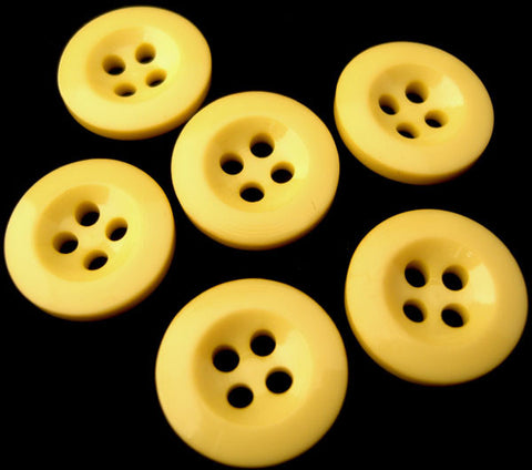 B0396 16mm Deep Primrose 4 Hole Trouser or Brace Type Button - Ribbonmoon