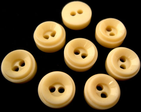 B0456 12mm Old Bone Cream Chunky High Gloss 2 Hole Button - Ribbonmoon