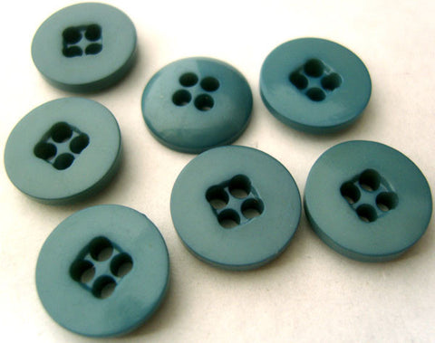 B0561 13mm Dusky Wedgewood Blue Glossy 4 Hole Button - Ribbonmoon