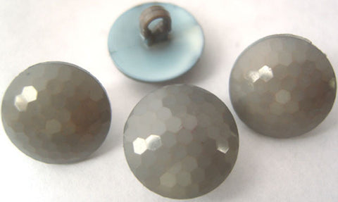 B0901 15mm Mid Grey Domed Honeycomb Shank Button - Ribbonmoon