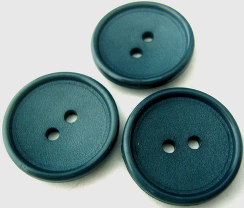 B0938 23mm Deep Cerulean Blue Matt Centre 2 Hole Button - Ribbonmoon