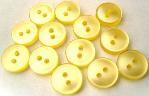 B1078 10mm Lemon Polyester Shirt Type 2 Hole Button - Ribbonmoon