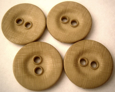 B1103 19mm Beige Lightly Textured Linen Effect 2 Hole Button - Ribbonmoon