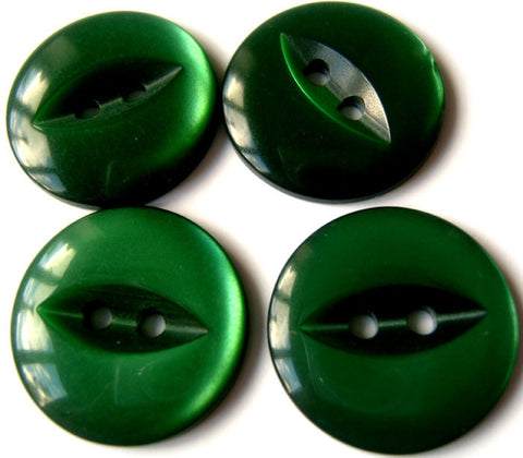 B11080 19mm Bottle Green 2 Hole Polyester Fish Eye Button - Ribbonmoon