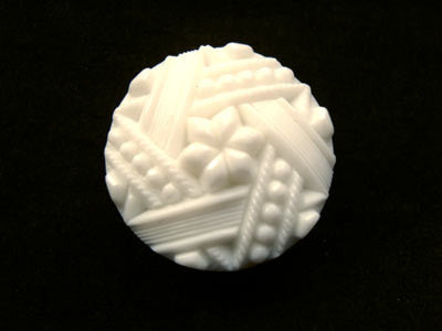 B12934 23mm White Textured Shank Button - Ribbonmoon