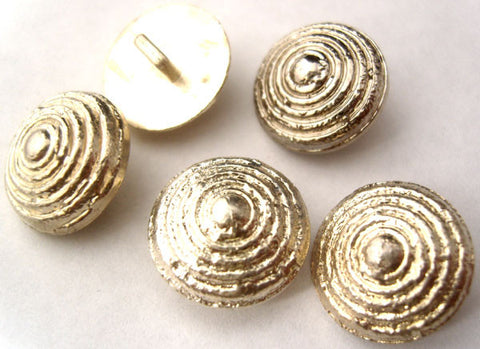 B1351 18mm Gilded Silver Poly Textured Shank Button - Ribbonmoon