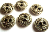 B13603 13mm Anti Silver Gilded Poly Textured 2 Hole Button