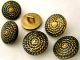 B1362C 15mm Gilded Gold and Black Poly Shank Buttons - Ribbonmoon