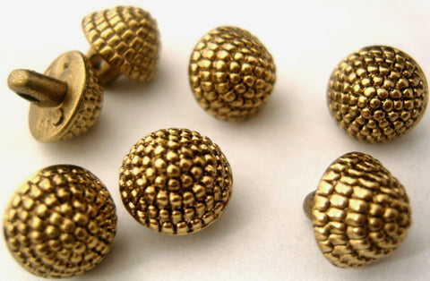 B1446C 10mm Gilded Brass Poly Acorn Shape Shank Buttons - Ribbonmoon