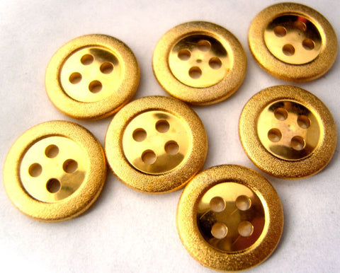 B1450 14mm Gilded Gold Poly 4 Hole Button - Ribbonmoon