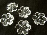 B16788 21mm Clear Glass Effect Flower Design 2 Hole Button