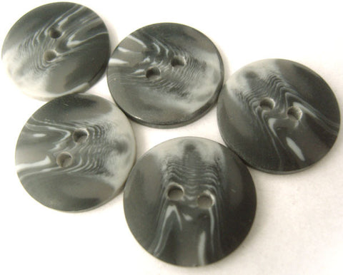 B1975 17mm Mixed Greys Bone Sheen 2 Hole Button - Ribbonmoon
