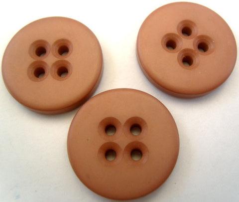 B2239 23mm Rosy Beige Chunky Soft Sheen 4 Hole Button - Ribbonmoon
