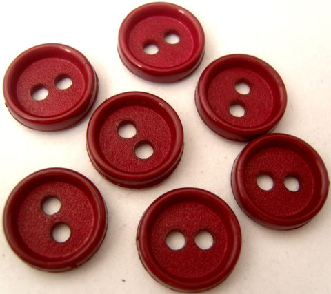 B2299 14mm Deep Scarlet Berry Matt Centre 2 Hole Button - Ribbonmoon
